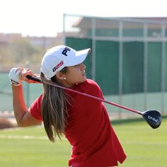 "March 11, 2013: ""This afternoon we caught up with PING Pro @AzaharaGOLF testing new #G25 woods on the range at HQ. #TeamPING,"" said Ping Golf (@PingTour) with LPGA Tour player Azahara Munoz from Phoenix."