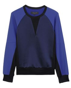 rag & bone Official Store, Kent Crewneck, dark navy fl, Womens : Ready to Wear : Sweaters : Cotton, W236A137F