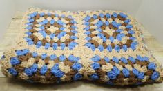 Small Afghan, lap blanket, Crocheted, 1980s by RandomGoodsVintage on Etsy