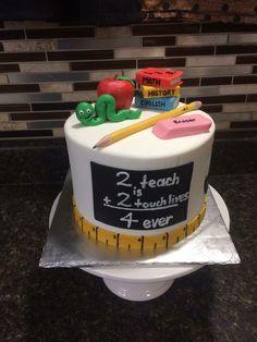 Teacher Birthday Cake, Teacher Graduation Party, College Graduation Cakes, College Grad Gifts, Teacher Cakes, Back To School Gifts For Teachers, Graduation Party Themes, Cake Decorating Techniques, Cake Decorating Tutorials