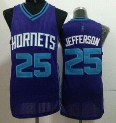 Revolution 30 Hornets  25 Al Jefferson Purple Stitched NBA Jersey Al  Jefferson cbb54d4f7