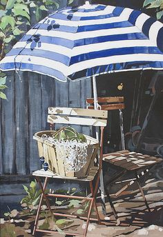 Inexpensive Home Decorating Ideas Watercolor And Ink, Watercolour Painting, Painting & Drawing, Watercolours, Garden Sitting Areas, Let's Make Art, Watercolor Architecture, Art Prompts, Beautiful Artwork