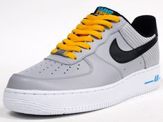 "AIR FORCE I 07 ""LIMITED EDITION for ICONS"" GRY/BLK/YEL (488298-014)"
