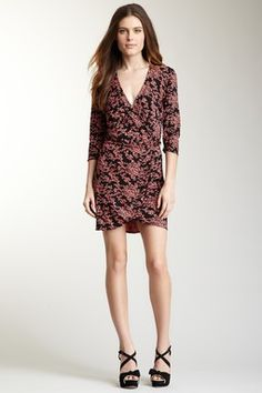 Printed Jersey Surplice Dress | Plenty by Tracy Reese