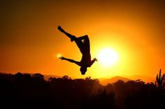 Jumping for joy Posted 8 Jul 2016, 12:32pm  Looks like someone in Wyndham Vale, Victoria is jumping for joy over this glorious sunset.  ABC Open contributor darcymartinphotography