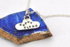 silver cloud pendant, every cloud via Etsy.