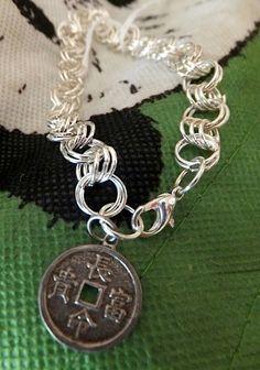 Chinese Coin bracelet by elainehailwood on Etsy, $19.95
