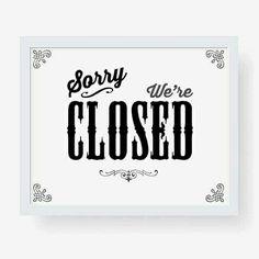 Closed..