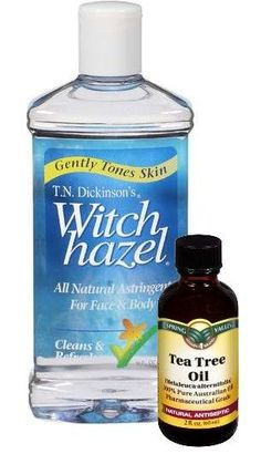 Toner for T-Zone: Mix 1/2 cup of Witch Hazel and 10 drops of Tea Tree Oil. (Powerful antiseptic toner that minimizes and closes pores)