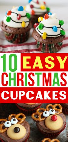 recipes for kids Easy Christmas Cupcake Ideas! These Christmas cupcake recipes make CUTE Christmas desserts to bring to your holiday party! Love these Christmas cupcake decorating ideas for the perfect Christmas treat! Cute Christmas Desserts, Christmas Cupcakes Decoration, Holiday Cupcakes, Christmas Cooking, Holiday Desserts, Holiday Baking, Holiday Treats, Holiday Recipes, Christmas Parties
