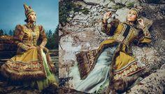 Mordern national costumes inspired by Siberian Northern Peoples. Designer Avgustina Filippova. Photo credit: Victor Li-Fu. Republic Sakha-Yakutia, Siberia, Russia.