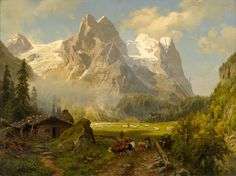 August Wilhelm Leu The Massif of the Wetterhorn - The Largest Art reproductions Center In Our website. Low Wholesale Prices Great Pricing Quality Hand paintings for saleAugust Wilhelm Leu Landscape Artwork, Fantasy Landscape, Great Paintings, Old Paintings, Fantasy Concept Art, Fantasy Art, Puzzle Art, Mountain Paintings, Environment Concept Art