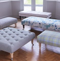 Luxury Handmade Upholstered FootstoolCoffee Table In Your Own