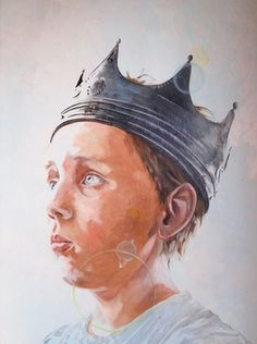 "Saatchi Online Artist Siolo Thompson; Painting, ""The Reluctant King"" #art"