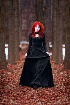 Redhead goth