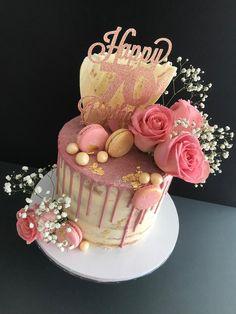 Naked drip cake Naked drip cake – cake by Penny Sue 60th Birthday Cake For Ladies, Birthday Cake For Women Elegant, Fancy Birthday Cakes, Birthday Drip Cake, Bithday Cake, Beautiful Birthday Cakes, Birthday Cake Decorating, Super Torte, Mom Cake