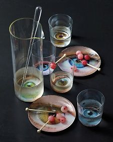 Eyeball Tableware and Blood-Orange Cocktail Labels | Step-by-Step | DIY Craft How To's and Instructions| Martha Stewart