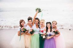 A colorful crew: | If Ariel And Prince Eric Got Married IRL, This Is What It Would Look Like