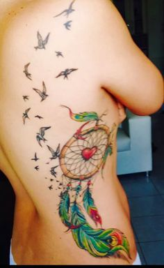 filtro dos sonhos tattoo na coxa - Pesquisa Google