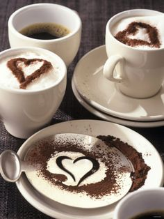 I need to get/make this - I would love a mustache stencil instead of a heart! Cushcoffee.com
