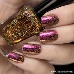 'Tis the season to get dressed to the nines, try out some new sexy hairstyles, take your makeup to the next level, and rock the glitteriest colors and designs on your fingertips. Need some inspo on the latter? Here, 13 stunning nails looks for your DIYing (and Instagramming!) pleasure: