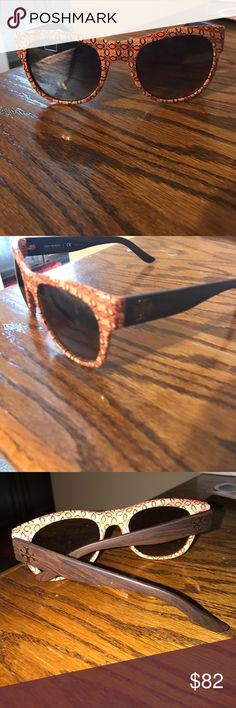 Tory burch Tory burch geometric shape with wood sides. Super cute! Tory Burch Accessories Sunglasses