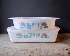 Vintage Fire King baking dishes #vintage