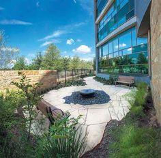 Dell Children's Hospital's healing garden.