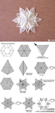 DIY handmade DIY handmade origami snowflakes
