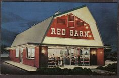Long before a McD's hit the neighborhood, there was the Red Barn. Best burgers ever! My mom has a set of red white and blue glasses from there.