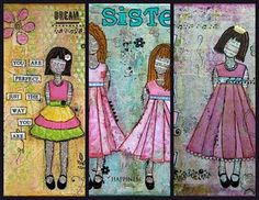 Little girls by Sylvia Drown AKA Baxter's Mom
