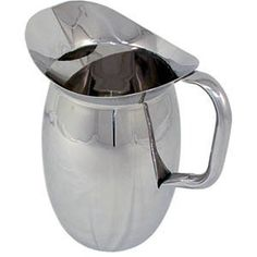 2 Quart SS Bell Pitcher With Ice Guard (BP-2G) These 2 quart stainless steel water pitchers feature an attractive bell-shape body. Complete with ice guard for splash-free pouring. This stainless steel