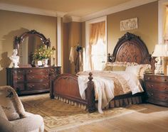 Photo of American Drew Jessica McClintock Home Romance Victorian Mansion Bed (Bedroom Furniture, Bedroom Set, Bedroom Collection, Iron Bed, . Victorian Bedroom, Victorian Furniture, Victorian Decor, Victorian House, Arranging Bedroom Furniture, Furniture Arrangement, Living Room Furniture, Wood Furniture, Furniture Removal