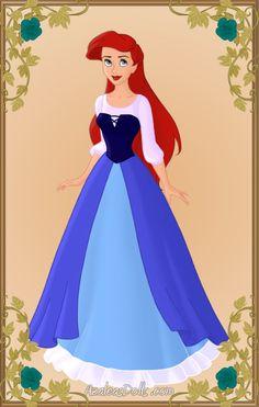 Ariel blue dress 2