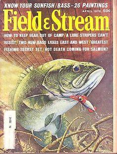 4 1970 Field Stream Magazine   eBay Outdoor Life Magazine, Fishing Magazines, Bass Lake, Fish Camp, Magazine Covers, Hunting, Classic, Vintage, Ebay