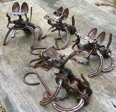 garden art from recycled materials | metal dogs | Jangling Jack – Australian Artist