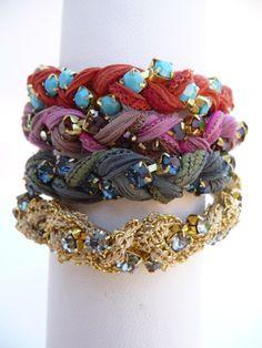 cool bracelets. especially love the friendship bracelet twist