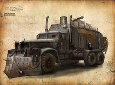 Post-Apocalyptic Hunting Truck by skybolt on DeviantArt Mad Max, Apocalypse World, Apocalypse Survival, Hunting Truck, Post Apocalyptic Art, Death Race, Bug Out Vehicle, Trucks, Dark Fantasy Art