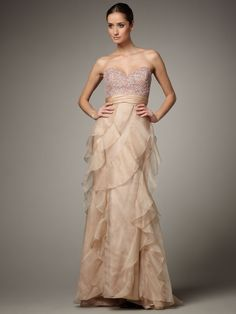 Organza Layered Beaded 2013 Prom Dresses