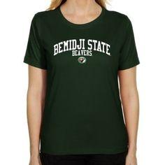 NCAA Bemidji State Beavers Ladies Team Arch Classic Fit T-Shirt - Green $19.95