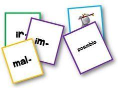 Je partage avec vous ici un petit jeu de mistigri pour travailler sur la formation des contraires à l'aide de préfixes. Le but du jeu :associer un préfixe à un mot pour former son contraire. Règle du