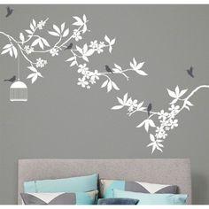 vinil-autocolante-decorativo-ramo-árvore-pássaros