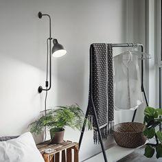 Φωτιστικό τοίχου σε μαύρο χρώμα SHOWER IDEAL LUX Decoration, Wardrobe Rack, Ladder Decor, Oversized Mirror, Light Bulb, Chrome, Indoor, Curtains, Lights