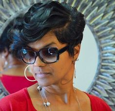 New style Dope Hairstyles, Short Black Hairstyles, My Hairstyle, Straight Hairstyles, Weave Hairstyles, Short Sassy Hair, Short Hair Cuts, Pixie Cuts, Short Hair Styles
