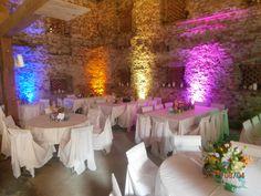 #wedding #esküvő #hochzeit #weddinglights #colorful #lights #LEDlight Light Colors, Bali, Colorful, Lights, Table Decorations, Wedding, Furniture, Home Decor, Valentines Day Weddings