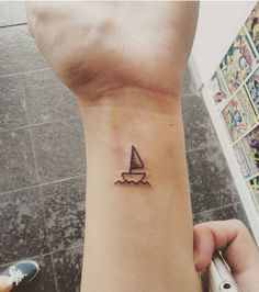 simple sailboat tattoo - Google Search