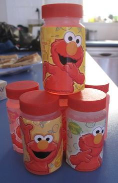 Elmo likes bubbles! Elmo Party ideas become Elmo therapy ideas (Sensory, bubbles or a simple reward)