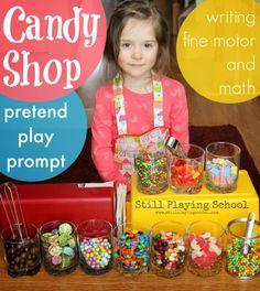 Valentine Candy Shop With Chocolate Playdough Ice Cream