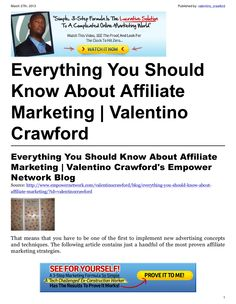 affiliate marketing jobs