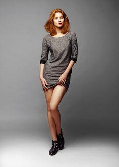 "simple grey dress - ""leur"" by Belle, Poland"
